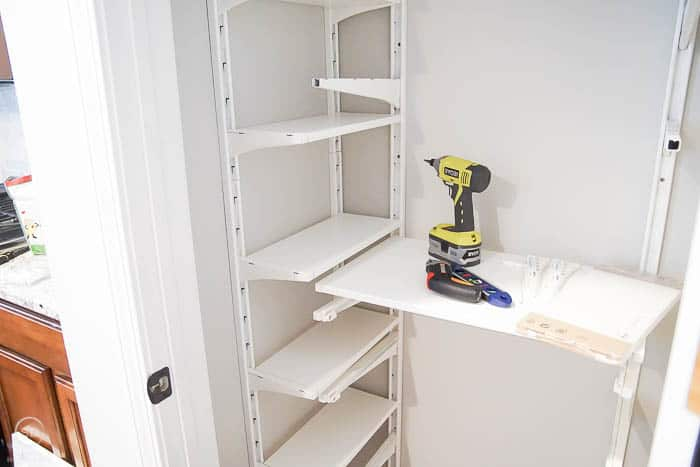 Pantry Organization with IKEA ALGOT system