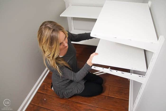 How to organize storage under the stairs with the IKEA ALGOT System