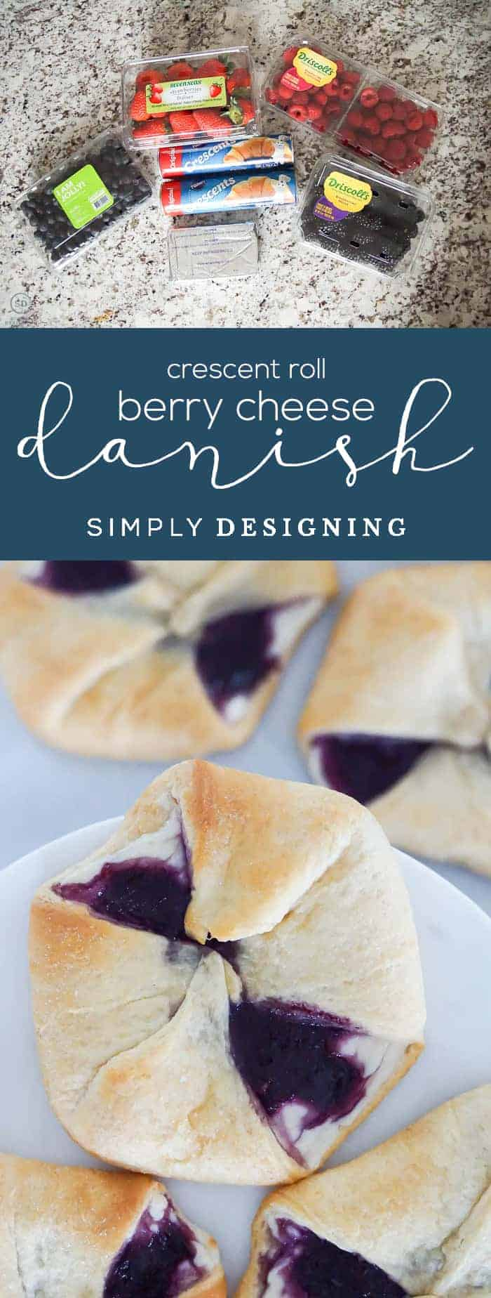 How to make a Crescent Roll Berry Cheese Danish