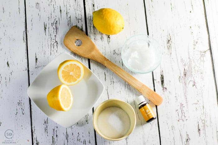 Lemon Sugar Scrub Recipe Ingredients