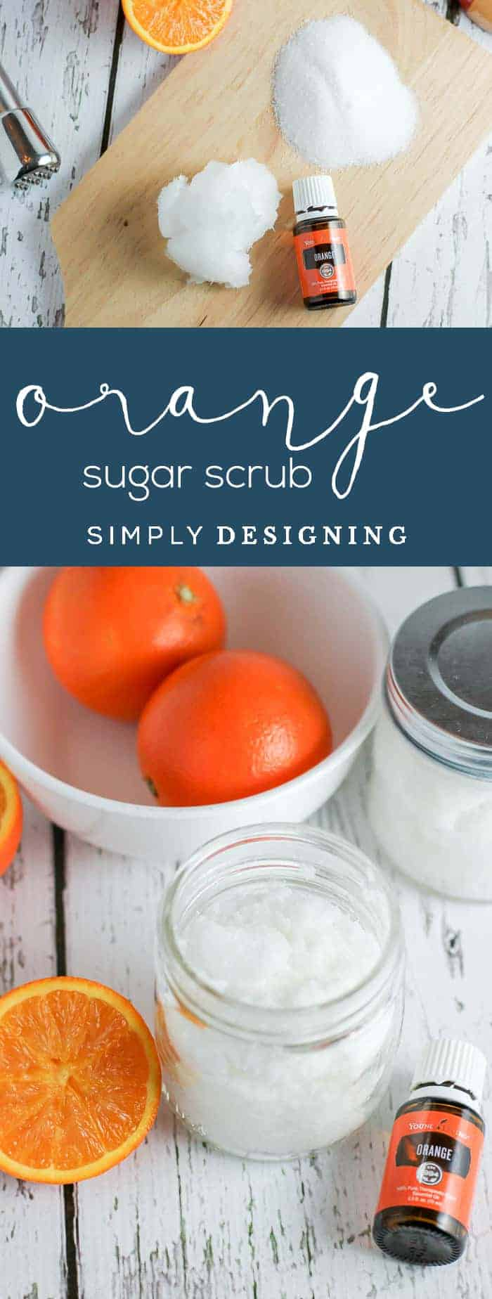 Orange DIY Sugar Scrub Recipe - sugar scrub recipe - diy body scrub - homemade sugar scrub