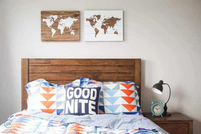 Headboard in a Cool Boy Bedroom Idea - #ad #BHGLiveBetter #BHGatWalmart @BHGLiveBetter