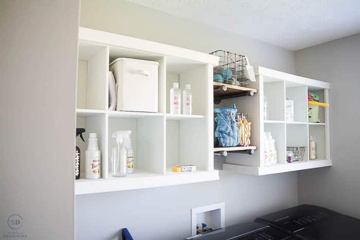 How to Organize a Laundry Room before shelving
