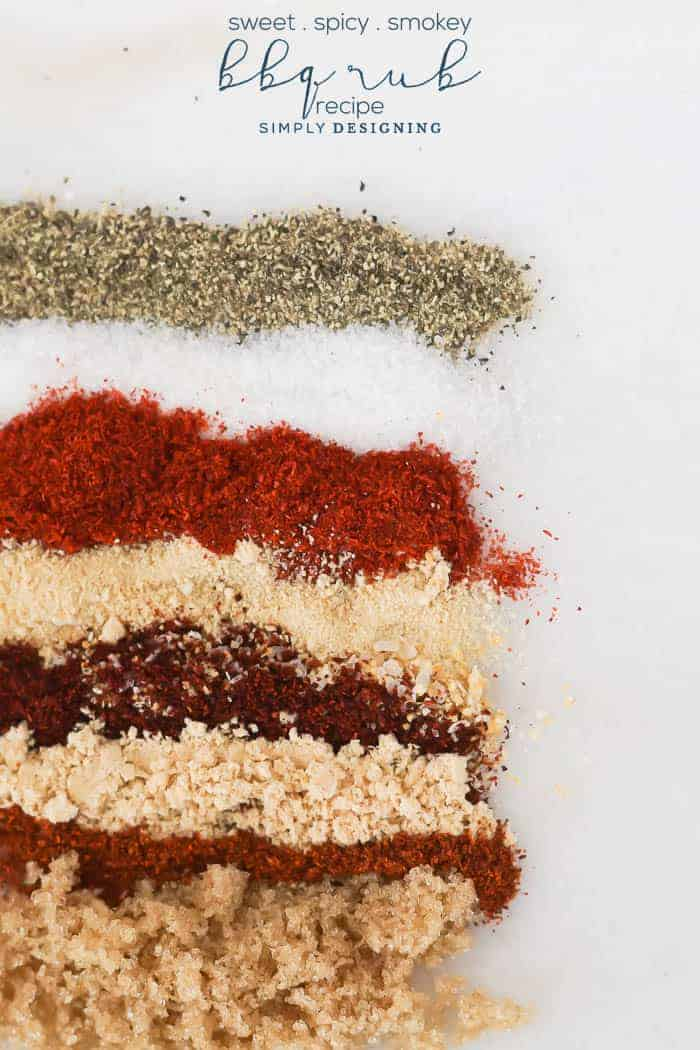 BBQ Rub Spices - The BEST Sweet Spicy and Smokey BBQ Rub Recipe to get that yummy BBQ flavor on any meat