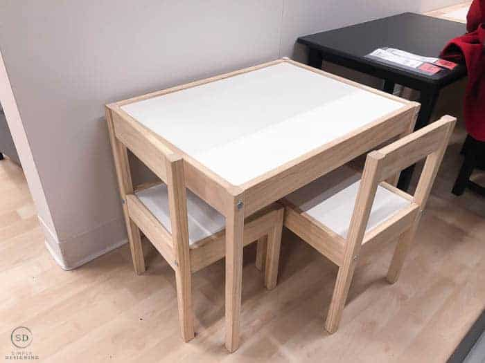 LATT IKEA Kids Table Hack - before-8463