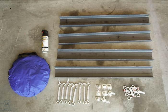 Supplies to make metal shelves