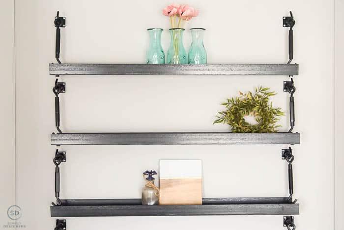 DIY Industrial Metal Shelves