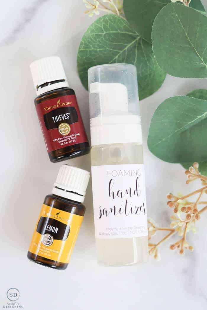 all-natural foaming hand sanitizer recipe