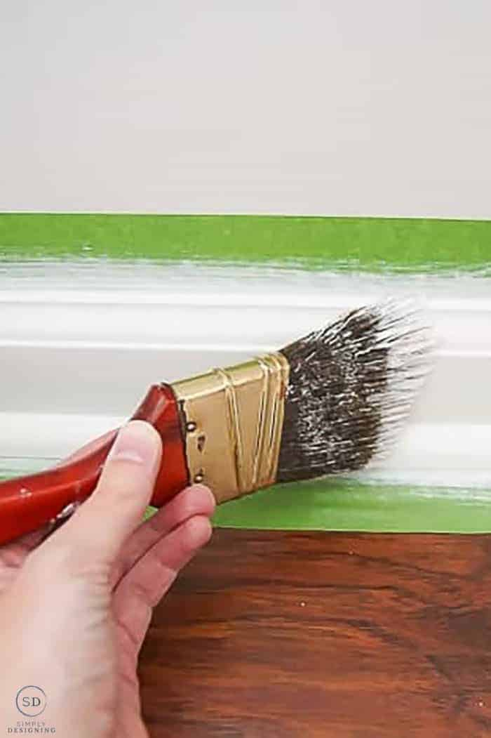 How to Touch Up Paint - touching up base boards