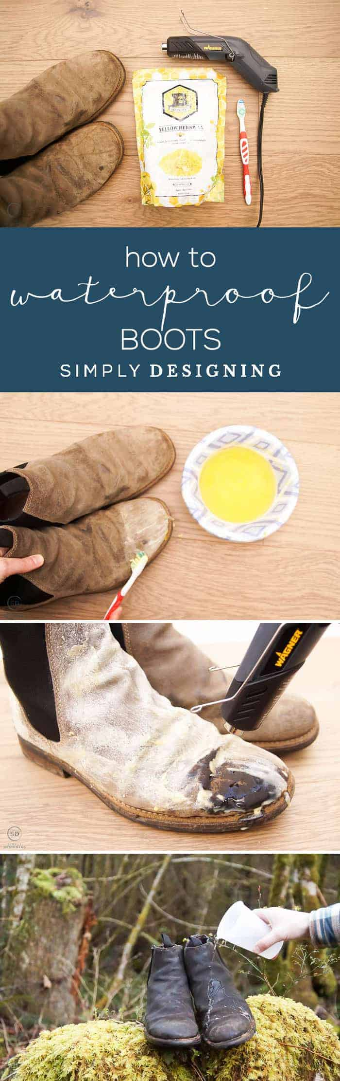 Learn tips and tricks for how to waterproof leather boots easily with this cost-effective method using beeswax a toothbrush and a heat gun