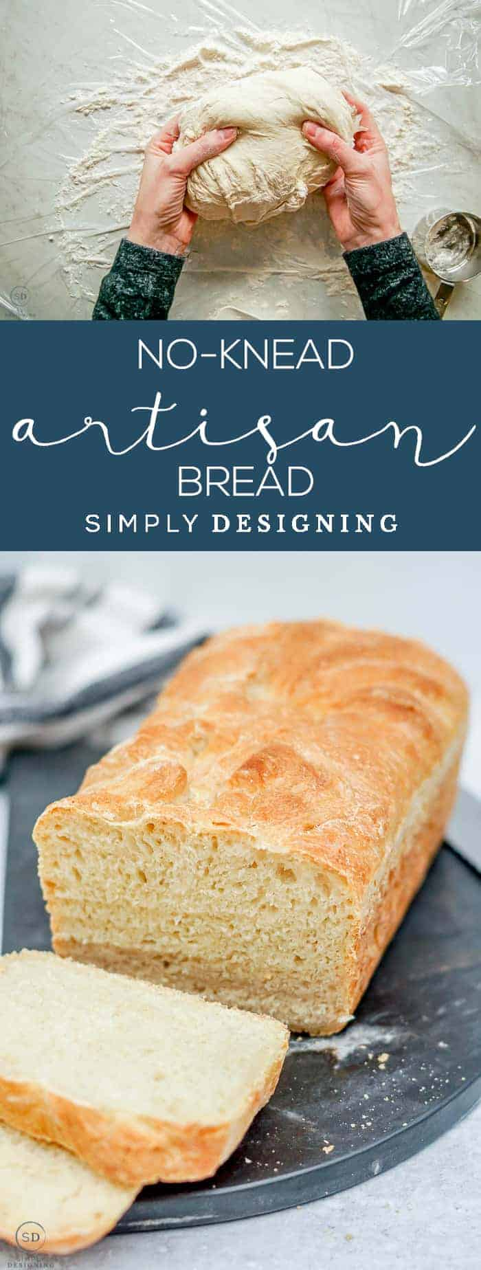 This no-knead artisan bread recipe is a fool-proof 5-minute bread that tastes like something you would get at a fancy restaurant but is super simple to make