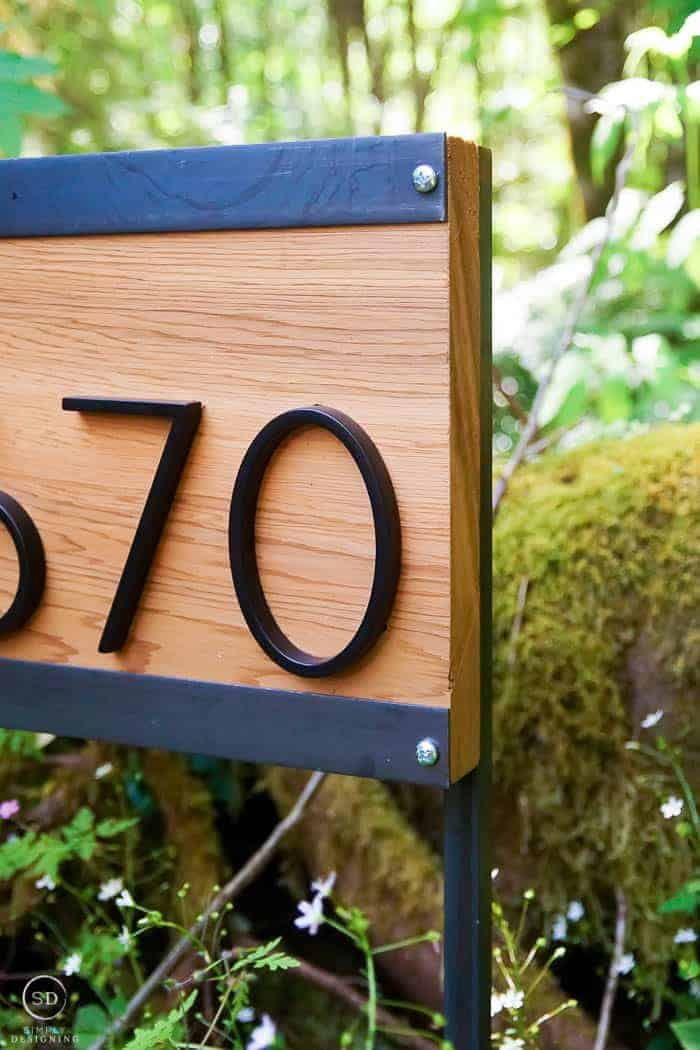 sign for house numbers