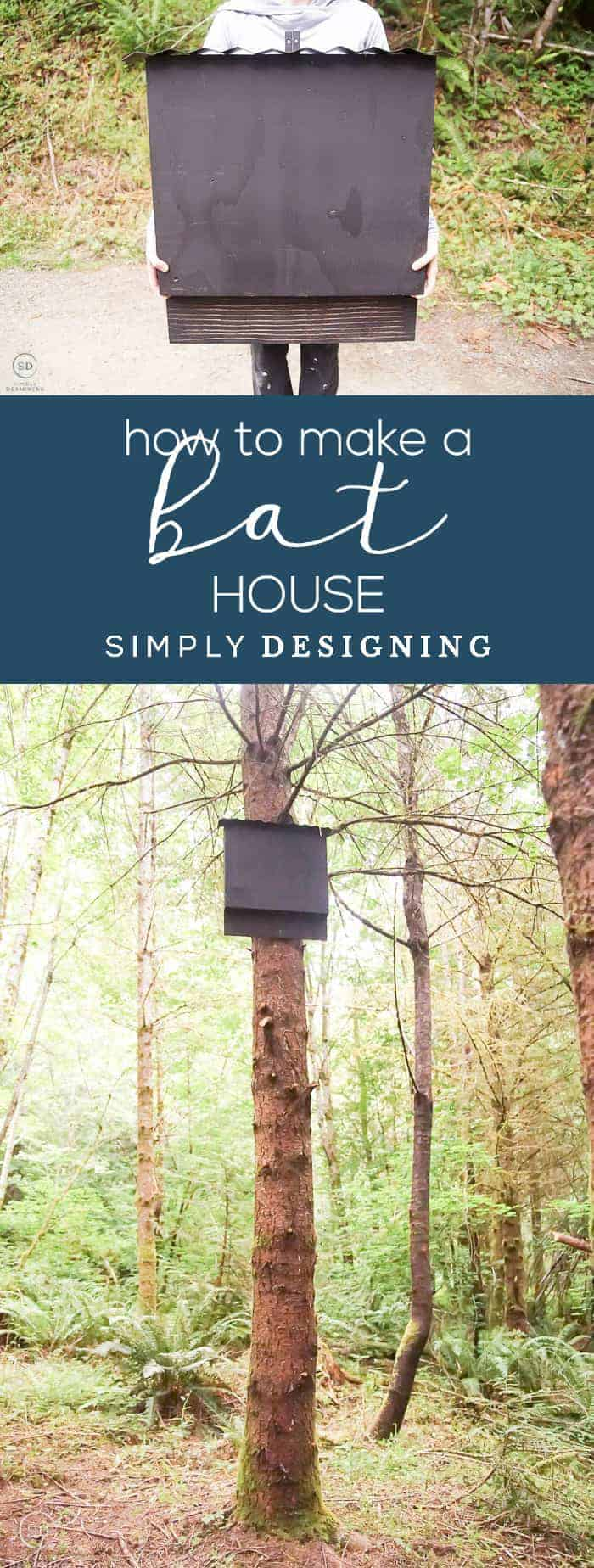 Attract bats to your property with this easy-to-make Bat House It is a simple and inexpensive way to make a DIY bat house