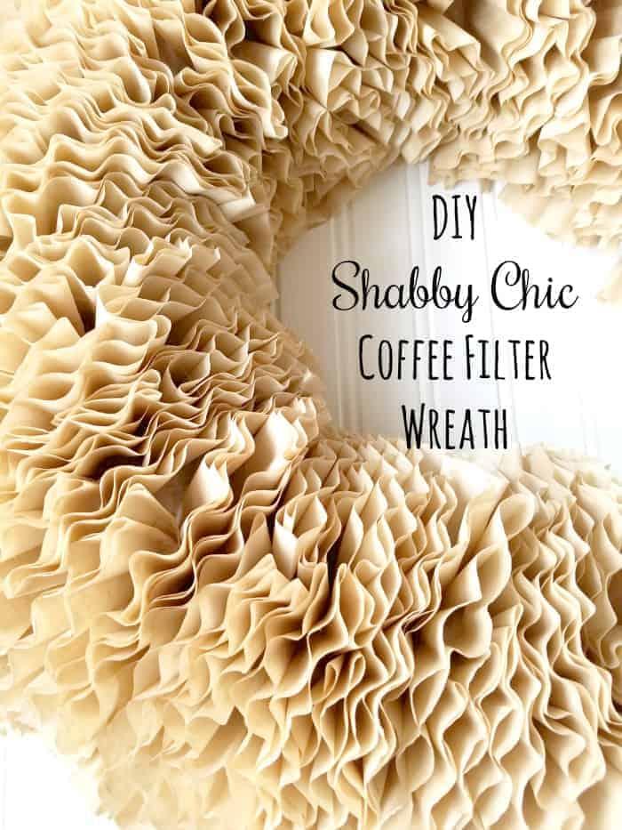 DIY Shabby Chic Coffee Filter Wreath