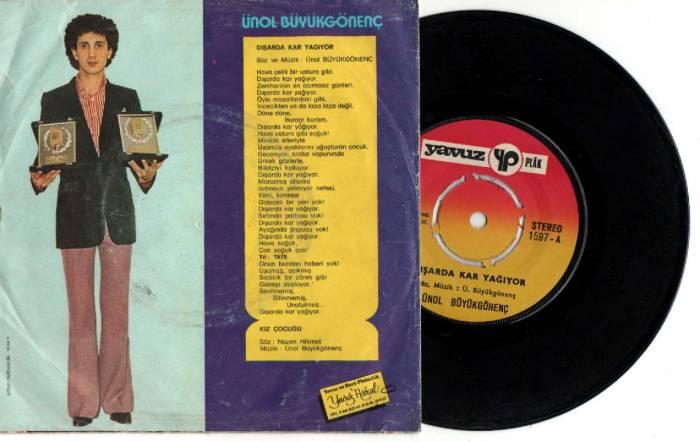 Ünol Büyükgönenç - Dışarda kar yağıyor - Kız çocuğu - Plak kapağı - 1979