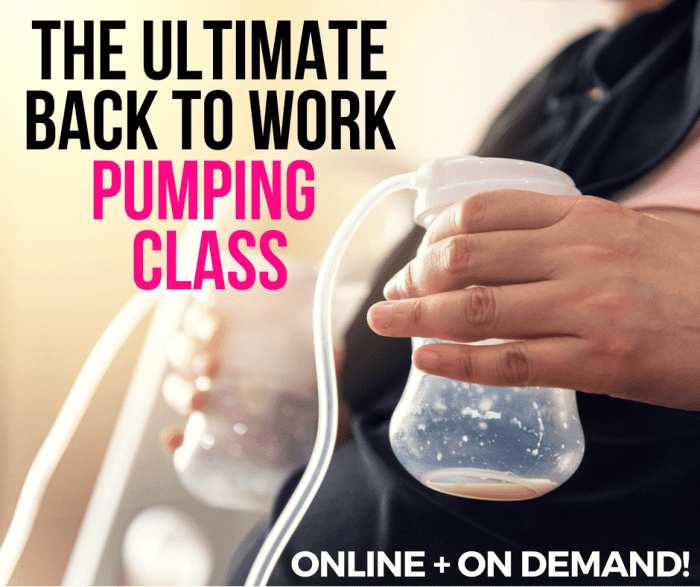 The Ultimate Back to Work Pumping Class