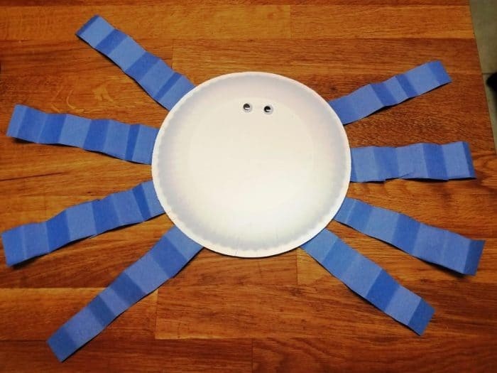 paper plate spider craft for itsy bitsy spider