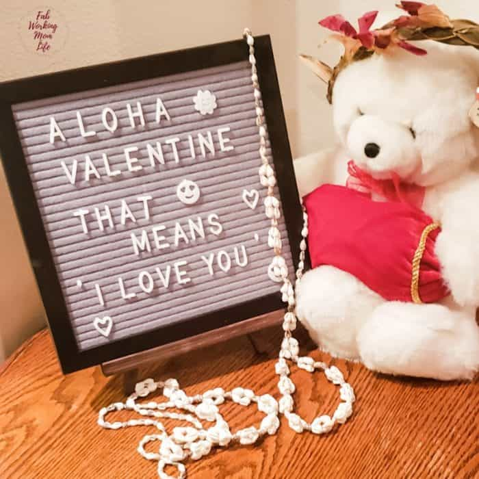 aloha valentine felt letter board