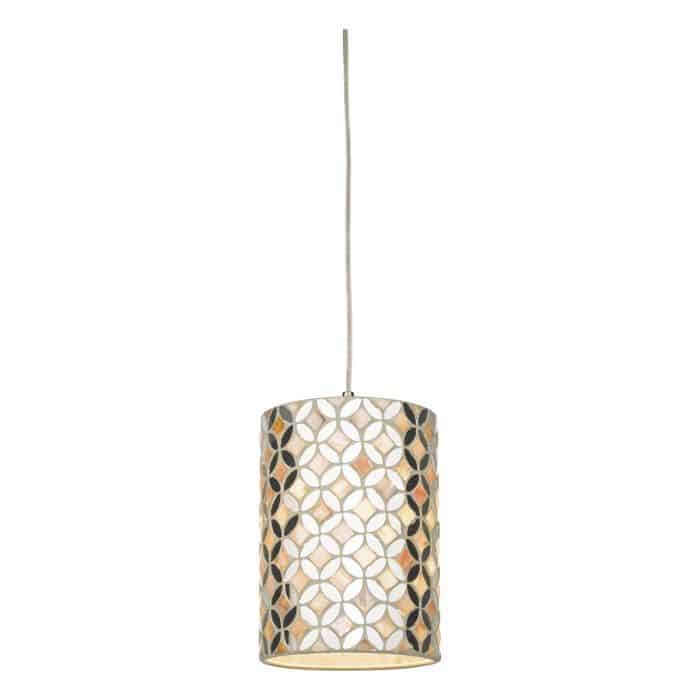 Där ACQ8668 Acquila Easy Fit Pendant Mirror & Cream Small