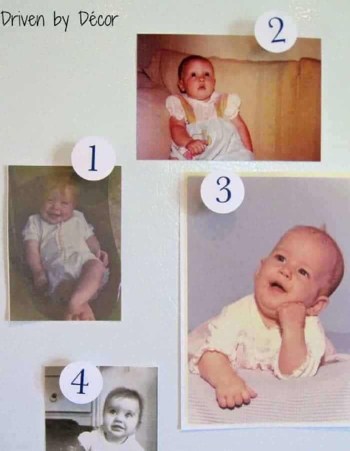 GUESS THE BABY - Refreshing baby shower game ideas, printables and more so you can plan the best baby shower! Baby shower games for women, men and couples.