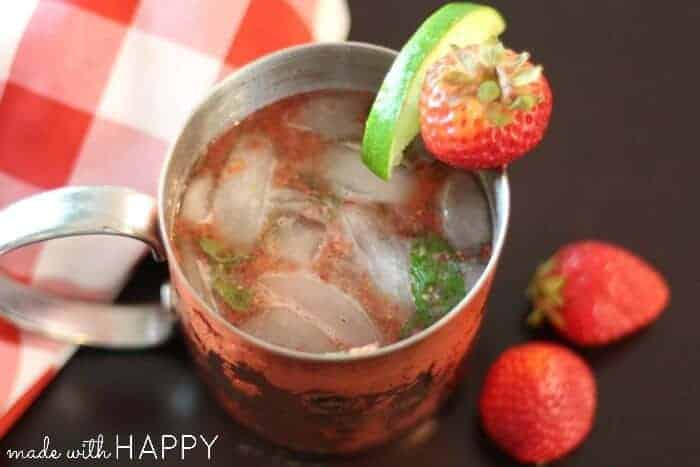 Strawberry Moscow Mule #SweetNLowStars