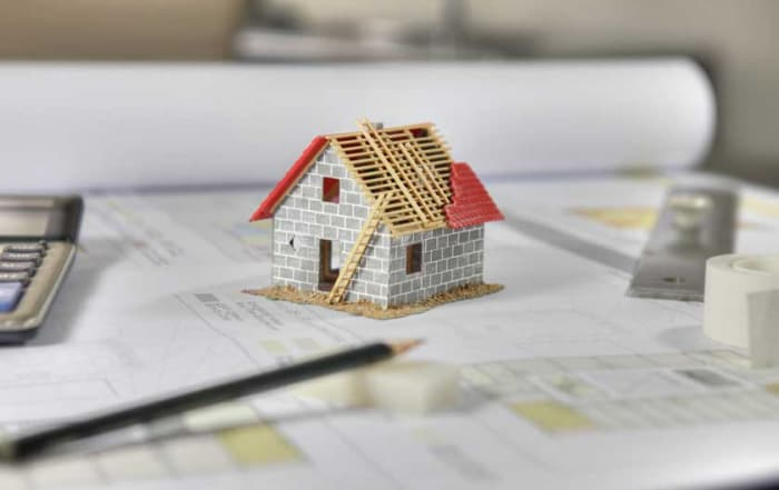 Plánek na stavbu rodinného domu