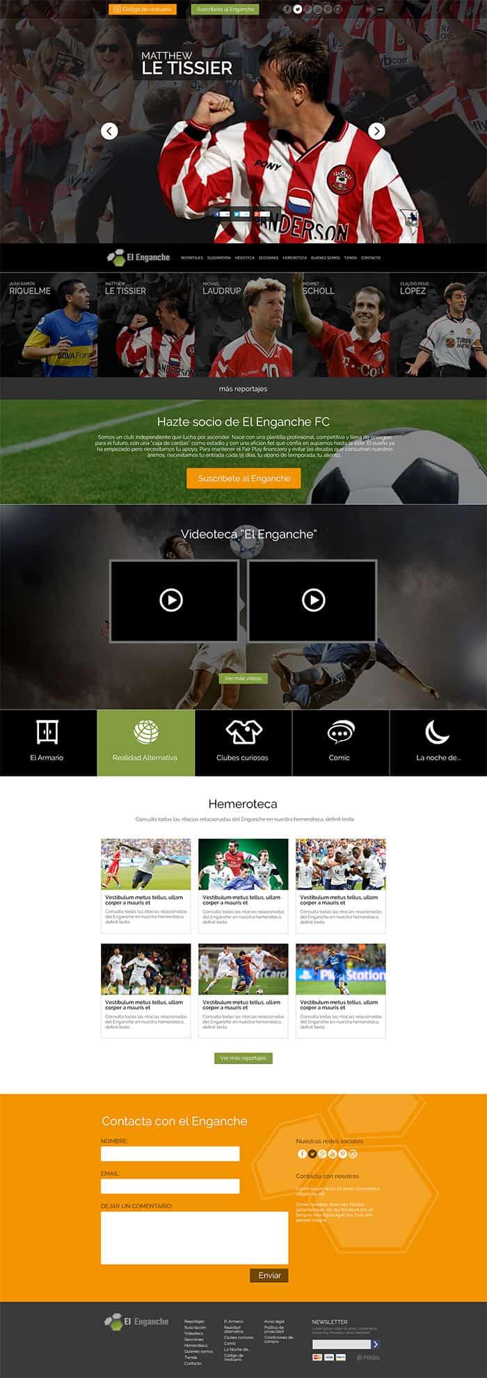 El Enganche portada-Diseño WordPress