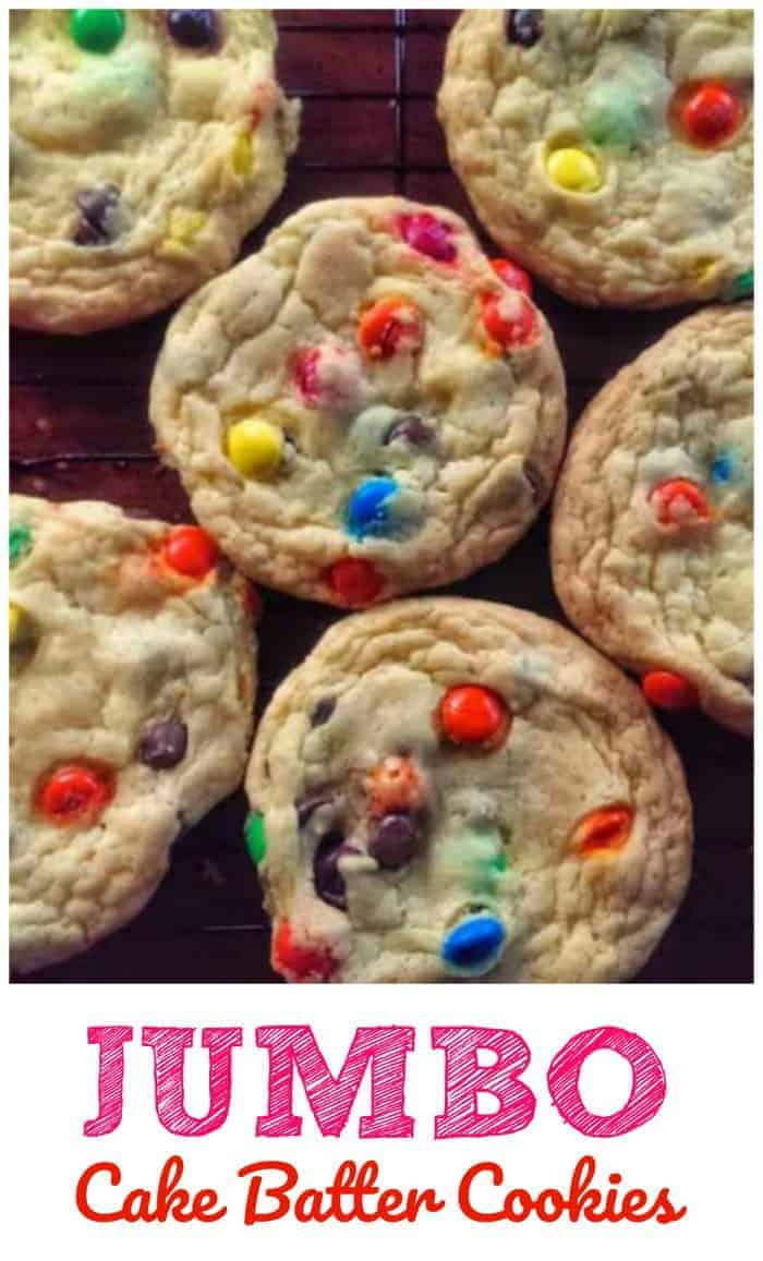 Jumbo Cake Batter Cookies 4 Main Ingredients Cookie Brownie Amp Chocolate Obsessed The Baking