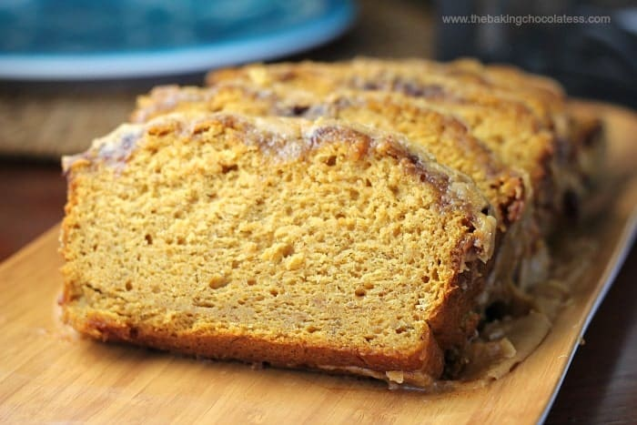 Country Pumpkin & Banana Cinnamon Bread {Pumpkin Glaze}
