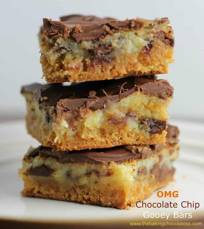 OMG Chocolate Chip Gooey Bars