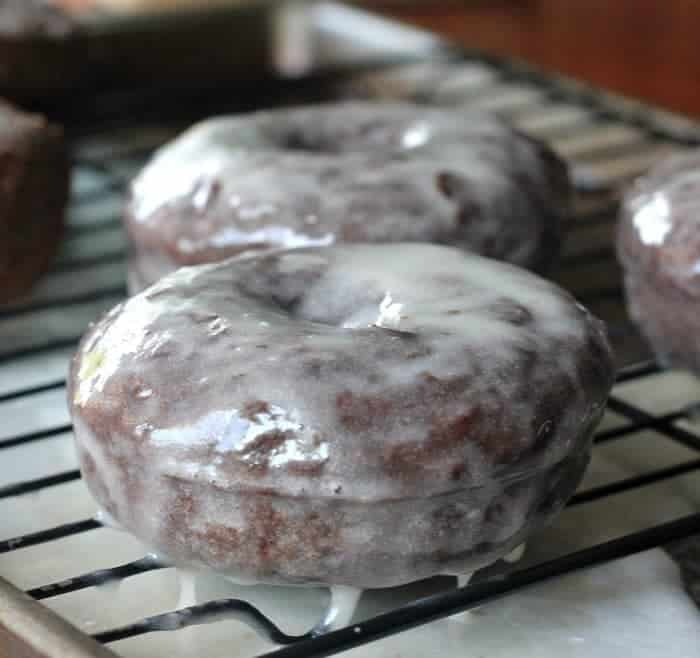 Glazed Fluffy Chocolate Donuts