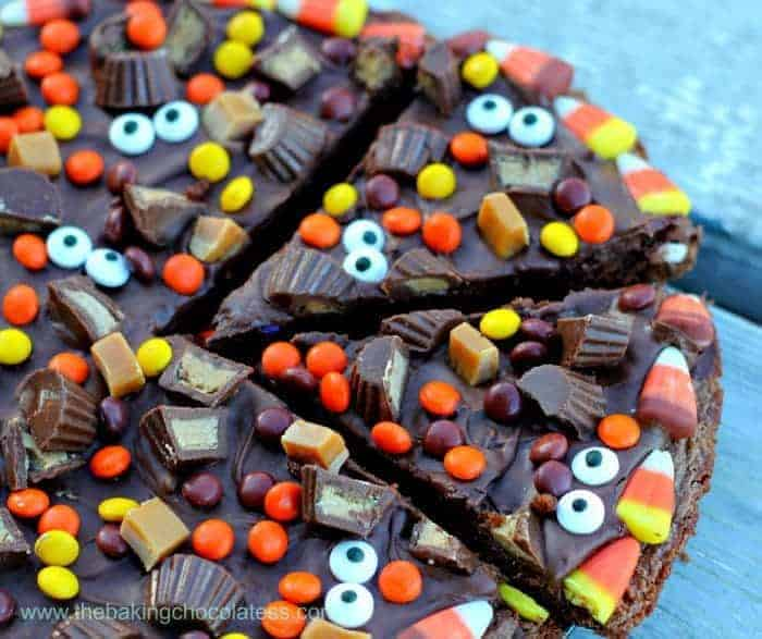Wicked Good Halloween Brownie Pizza