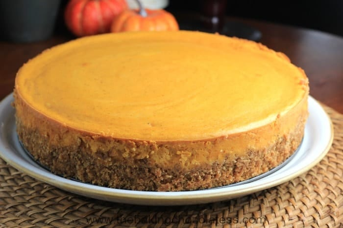"""The Great Pumpkin"" Cheesecake"