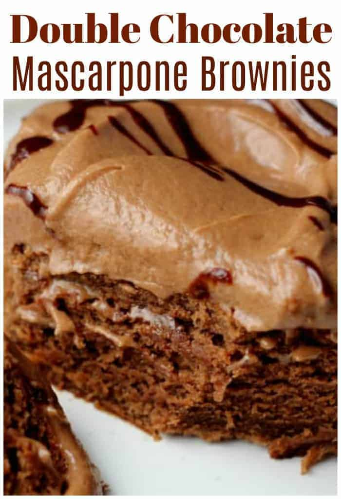 Double Chocolate Mascarpone Brownies