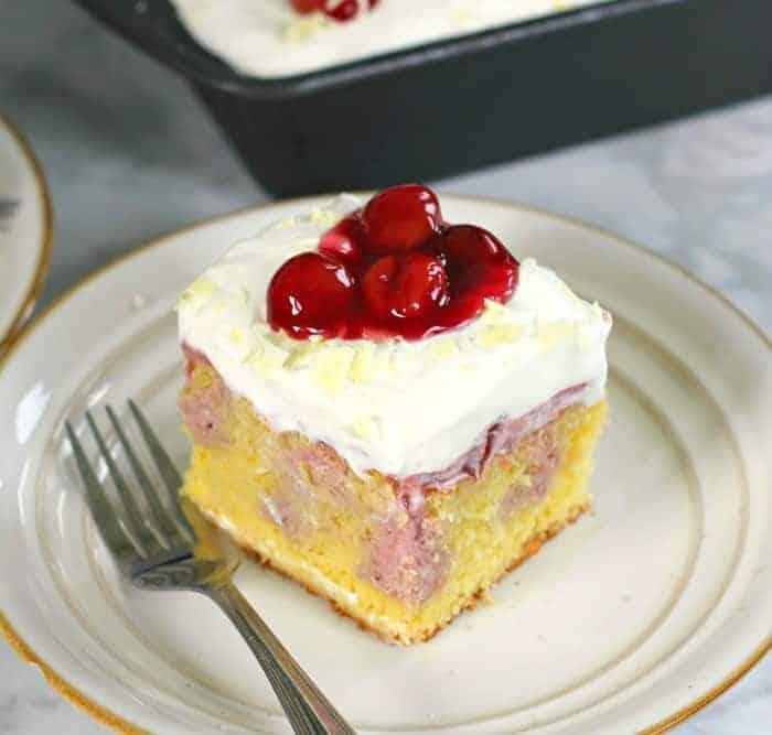 Very Cherry Cheesecake Poke Cake