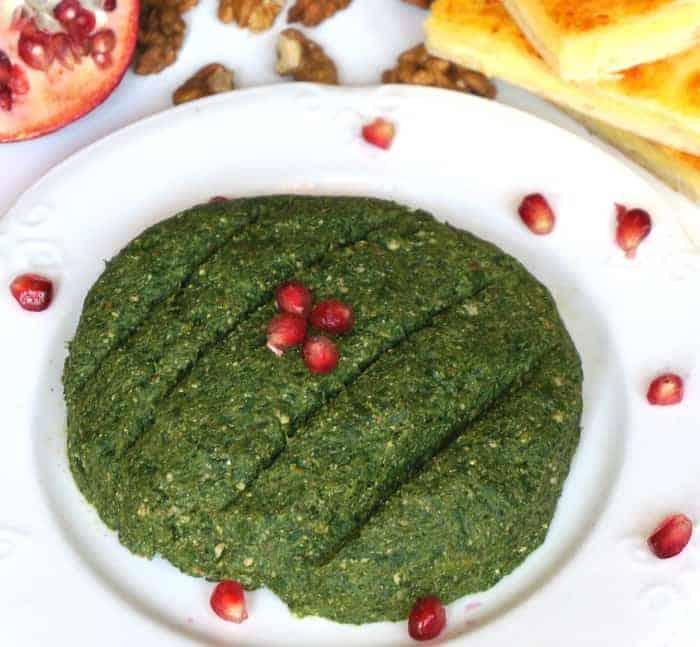 Georgian Spinach Cilantro and Walnut Salad Ispanakhis Pkhali