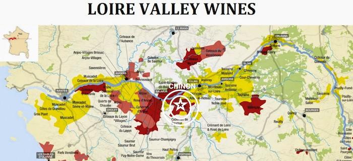 Loire Valley Wine Region Map | Winetraveler.com