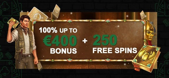 Get 100% up to 400 EUR and 250 free spins!