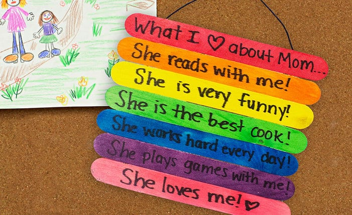 Craft Stick Mother's Day Sign