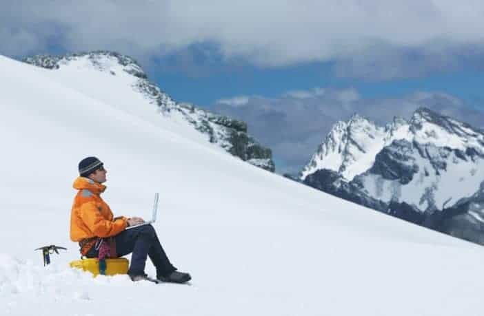 Working on a ski slope - fully remote companies