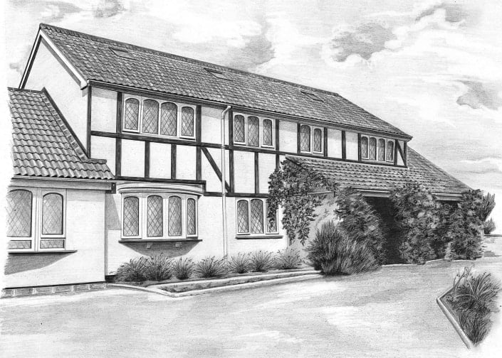 Pencil Drawing of Highworth House