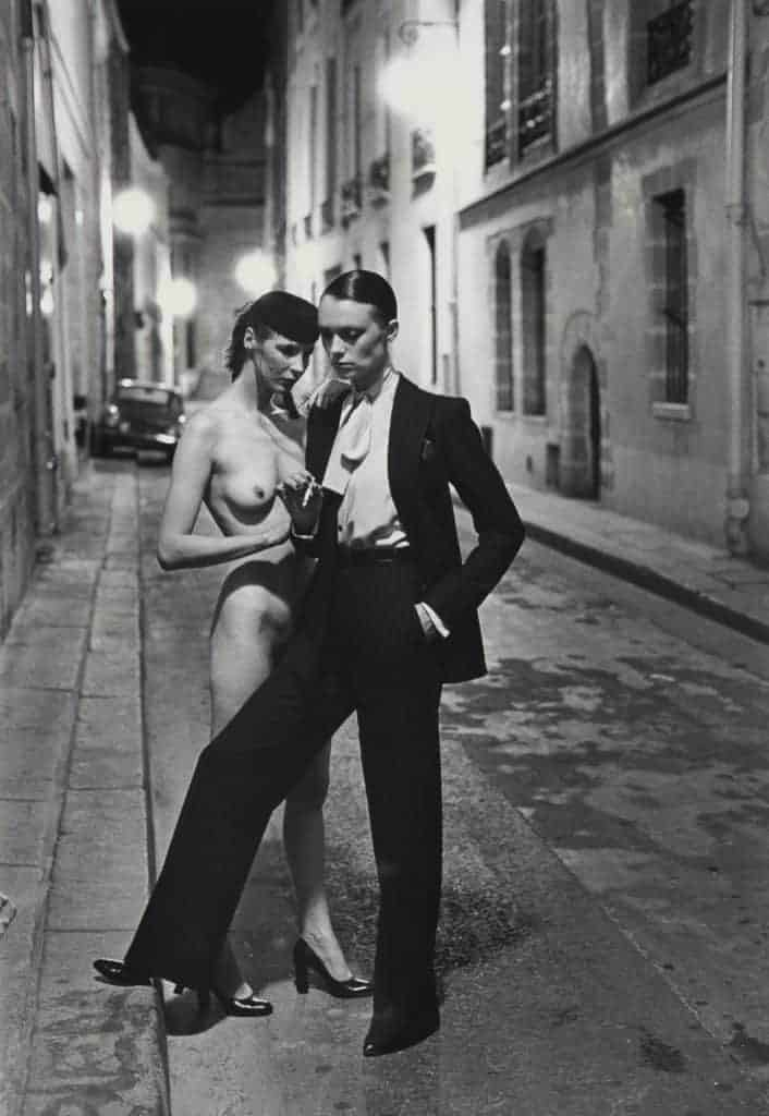 Helmut Newton, Rue Aubriot (two models), 1975