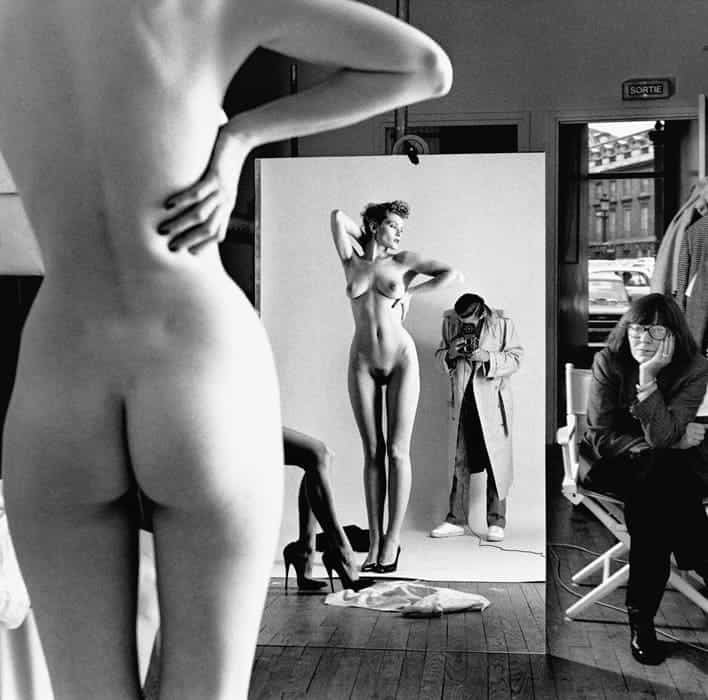 Helmut Newton, Self Portrait with Wife and Models, Vogue Studio 1981