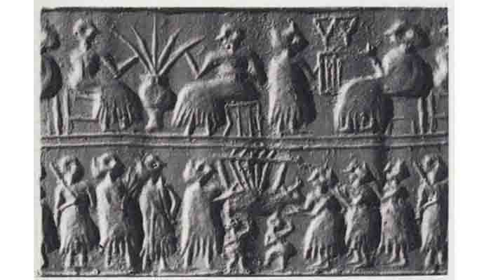 Straws being used in the history of the ancient sumerians