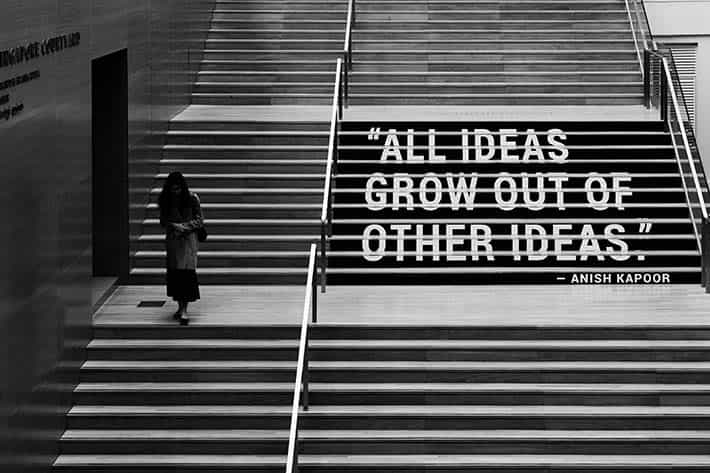 """Creative mindset. """"All ideas grow out of other ideas"""""""
