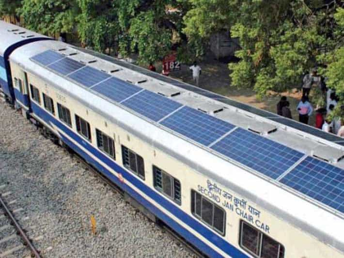 Solar powered train in India