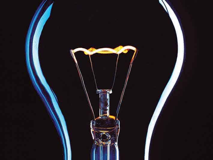 Sylised lightbulb
