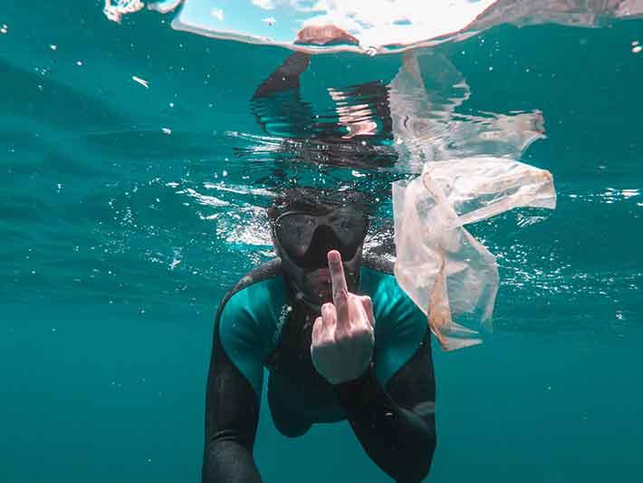 Plastic Bag in the Ocean