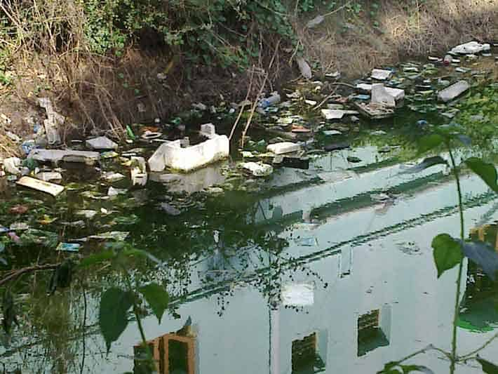 Untreated water pollution