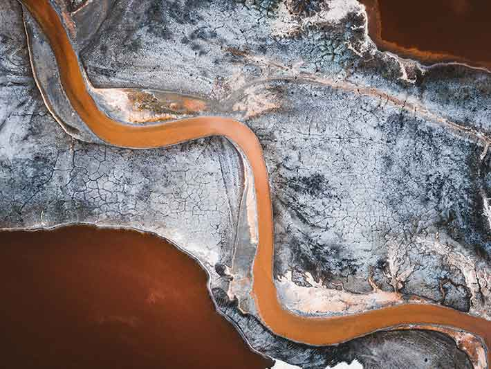 Polluted Water River of Sludge